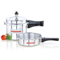 Elite Induction Base ALU Pressure Cooker & PAN